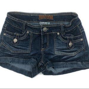 Free Culture Stretch Jean Shorts Juniors Size 3